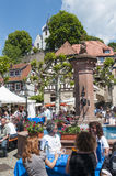Wine festival in Zwingenberg Stock Photo