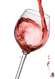 Wine filling a glass Royalty Free Stock Photo
