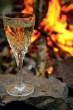 Wine and fire Royalty Free Stock Image