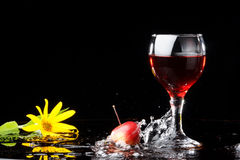 Wine, flower Royalty Free Stock Images