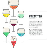 Wine Flyer Royalty Free Stock Photos
