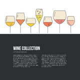 Wine Flyer Royalty Free Stock Photography