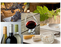 Wine and food royalty free stock photo