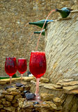 Wine fountain. In the winery Royalty Free Stock Images