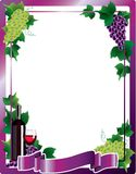 Wine frame background  illustration Royalty Free Stock Photo