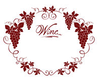 Wine frame Royalty Free Stock Image