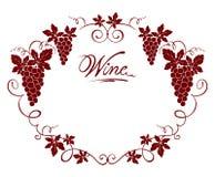 Wine frame Royalty Free Stock Image