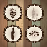 Wine frames Royalty Free Stock Photo