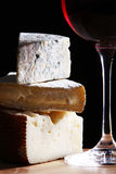 Wine and fresh cheese royalty free stock image