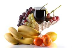 Wine and Fruit Royalty Free Stock Images