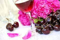 Free Wine, Fruit And Flowers Stock Image - 42372751