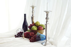 Wine  & Fruit  Feast Royalty Free Stock Photos