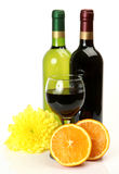 Wine and fruit royalty free stock image