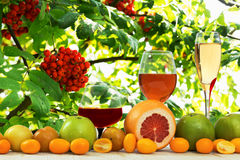 Wine and fruit Stock Photos