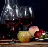 Wine and Fruit Stock Photography