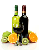 Wine and fruit royalty free stock photos