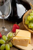 Wine and fruits Royalty Free Stock Photo