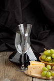Wine and fruits Stock Photography