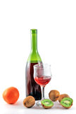 Wine and fruits. Royalty Free Stock Images