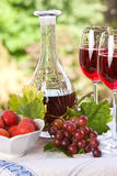 Wine and fruits Royalty Free Stock Photography