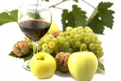Wine and fruits Stock Photo