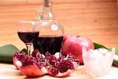 Wine and garnet Royalty Free Stock Images