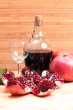 Wine and garnet Royalty Free Stock Image