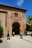 Wine Gate, Alhambra Palace. Stock Photo