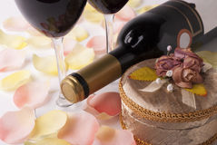Wine and gift Stock Image