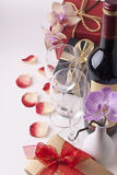 Wine and gift Royalty Free Stock Image