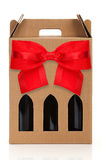 Wine gift box Royalty Free Stock Photos