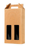 Wine gift box on white. Royalty Free Stock Image