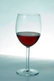 Wine Glass. Half filled wine glass Stock Photos