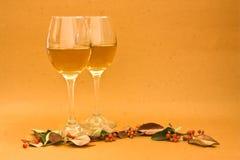 Wine glass. On autumn season Stock Photography