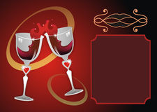 Wine Glass. A background with two wine glasses Stock Image