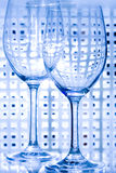 WINE GLASS. Transparent empty wine glass over white background Stock Image
