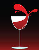 Wine Glass. Vector illustration of a glass of wine Royalty Free Stock Images