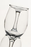 Wine glass. Two wine glasses conceptual shapes stock image