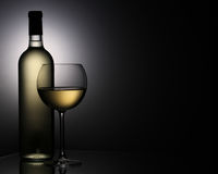 Wine glass. Still-life with the wine glass royalty free stock photos
