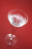 Wine Glass. In Soft Focus on Red Background Stock Photos