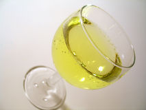 Wine Glass. On angle stock photography