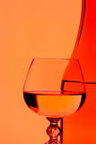 Wine and glass. Background can use the Internet, print advertising and design Stock Images