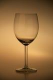 Wine glass. Empty wine glass on neutral background Stock Photo