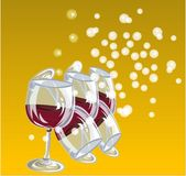 Wine in glass Royalty Free Stock Photos