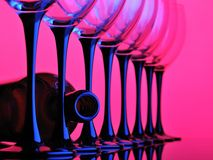 Wine glass. Abstract wine glass pink and blue color Royalty Free Stock Photos