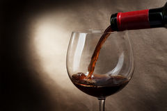 Wine glass. Red wine in a glass Royalty Free Stock Photos