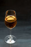 Wine glass. On a dark background Stock Image