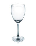 Wine glass. Empty wine glass on white background royalty free stock image