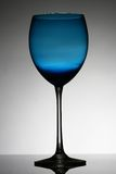 Wine glass. An isolated blue wine glass Stock Photography