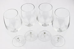Wine glass. Empty glass on  white background Royalty Free Stock Images